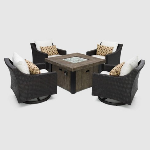 Deco 5pc Motion Fire Seating Set Moroccan Cream - RST Brands - image 1 of 4