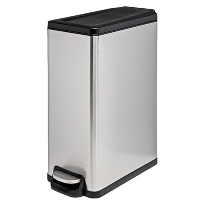 Room Essentials Stainless Steel Rectangle Step Trash Bin 45L