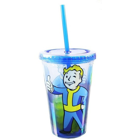 Just Funky OFFICIAL Fallout Tumbler | Feat. Vault Boy & Vault Door Ice Cubes | 16 Oz. - image 1 of 4