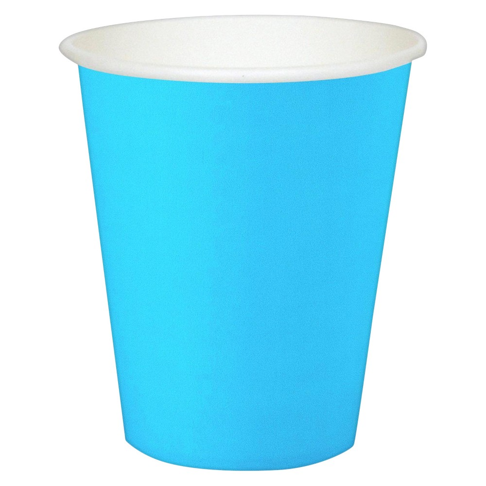 24ct 9 Oz. Cups - Blue, Disposable Drinkware