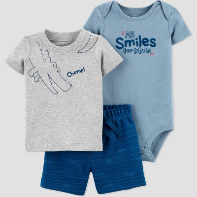 Baby Boys' Gator Top & Bottom Set - Just One You® made by carter's Blue 3M