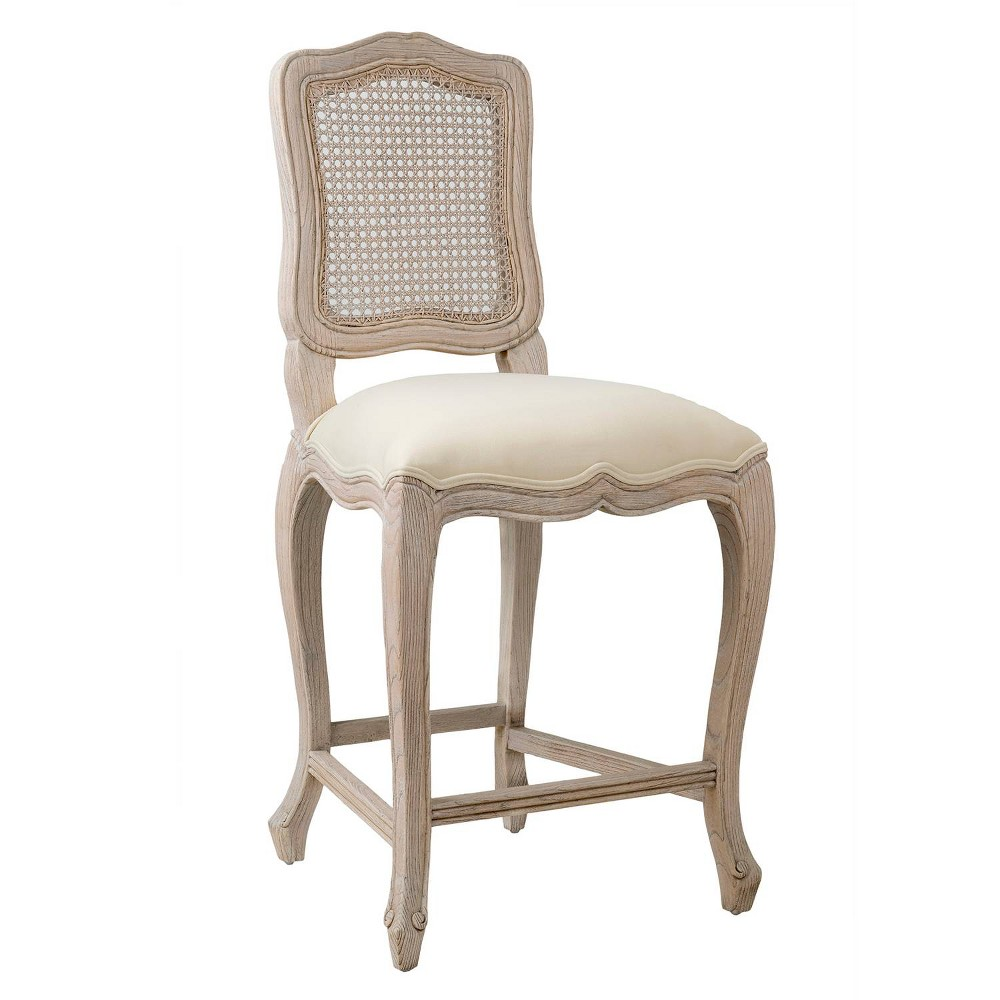 "Image of ""24"""" Duncan Rattan Counter Stool Off-White - East At Main, Beige"""