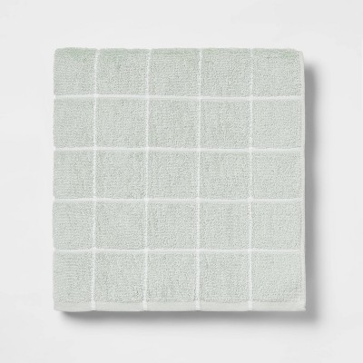 XL Everyday Grid Bath Towel Mint - Room Essentials™
