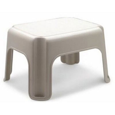 Rubbermaid FG420087BISQU 9.5 Inch 1 Step Lightweight Slip Resistant Roughneck Tough Indoor Home Stepping Stool, Tan