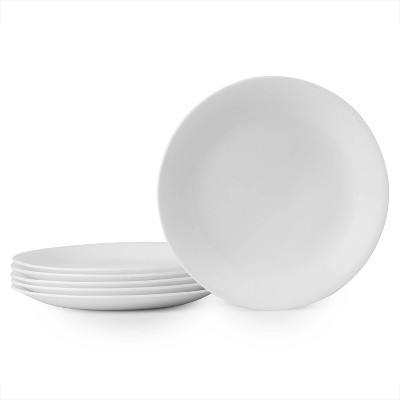 "Corelle 8.5"" 6pk Glass Lunch Plates White"