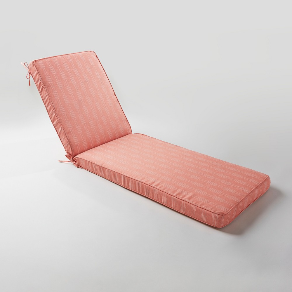 Stagger Stripe Outdoor Chaise Cushion Terracotta - Project 62