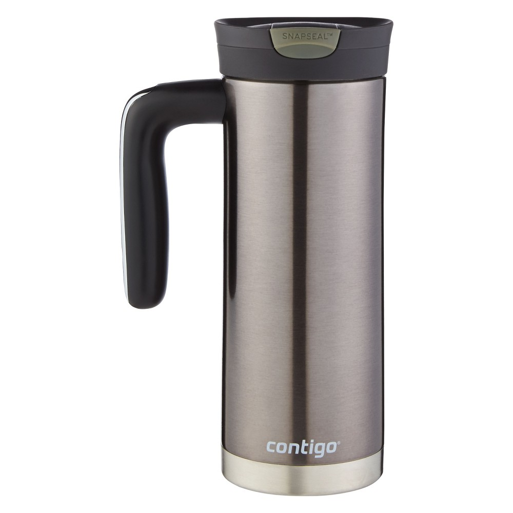 Image of Contigo Snapseal 20oz Superior Insulated Stainless Steel Travel Mug with Handle Silver