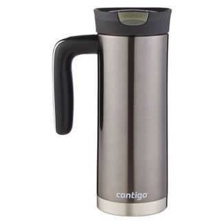 Contigo SNAPSEAL 20oz Superior Insulated Stainless Steel Travel Mug with Handle Silver
