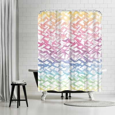"""Americanflat Rainbow Abstract by Victoria Nelson 71"""" x 74"""" Shower Curtain"""
