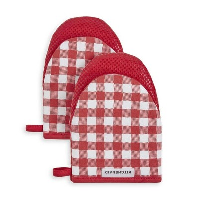 KitchenAid 2pk Cotton Gingham Mini Oven Mitts