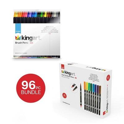 Kingart 96ct Brush Pen Marker Bundle