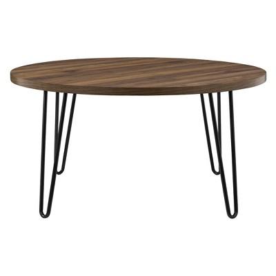 Heywood Retro Round Coffee Table Walnut - Room & Joy