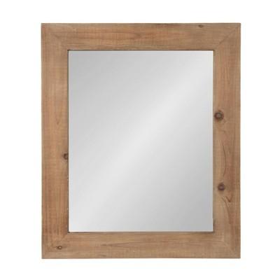 """30"""" x 36"""" Garvey Wood Framed Wall Mirror Rustic Brown - Kate and Laurel"""