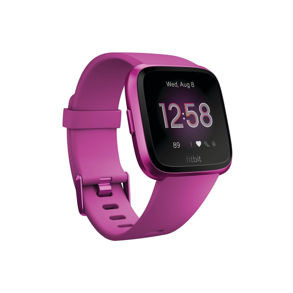 Fitbit Versa Lite Smartwatch with Small & Large Band - Mulberry (Pink)
