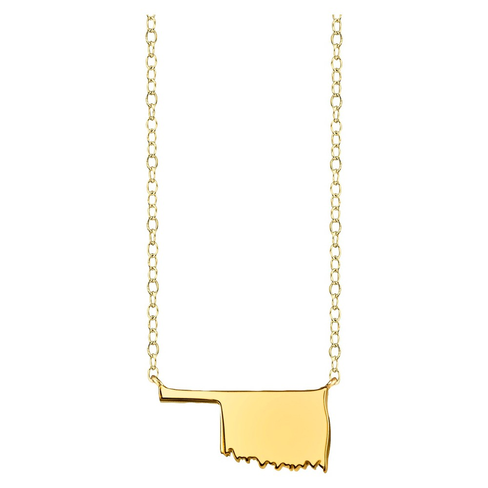 Footnotes State Pendant - Gold, Girl's, Oklahoma