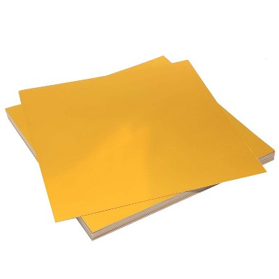 Bright Creations 48 Sheets Metallic Matte Gold Shimmer Cardstock Card Stock Paper for Crafts, Square 12 in.