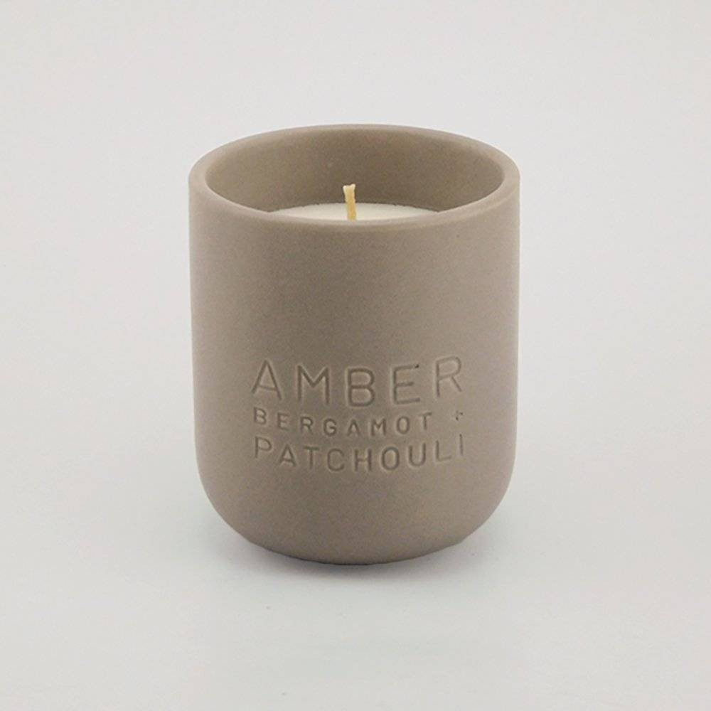 9.8oz Debossed Ceramic Jar Candle Amber - Bergamot & Patchouli - Project 62