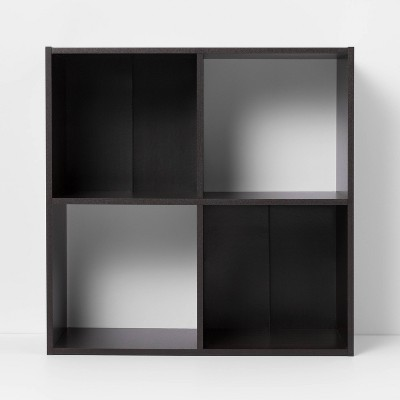 4 Cube Decorative Bookshelf Brown - Room Essentials™