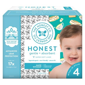 Honest Company Disposable Diapers Club Box Skulls & Breakfast - Size 4 (60ct)