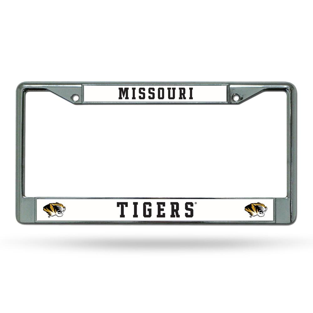 Missouri Tigers Rico Industries Chrome License Plate Frame