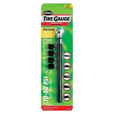 10-50 PSI Pencil Tire Gauge and Valve Caps