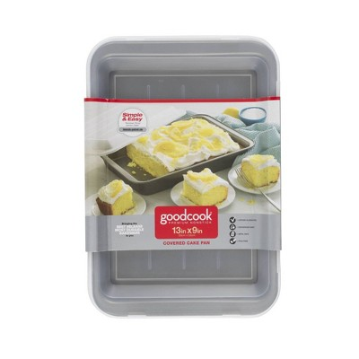 "Good Cook Nonstick 9"" x 13"" Cake Pan with Cover"