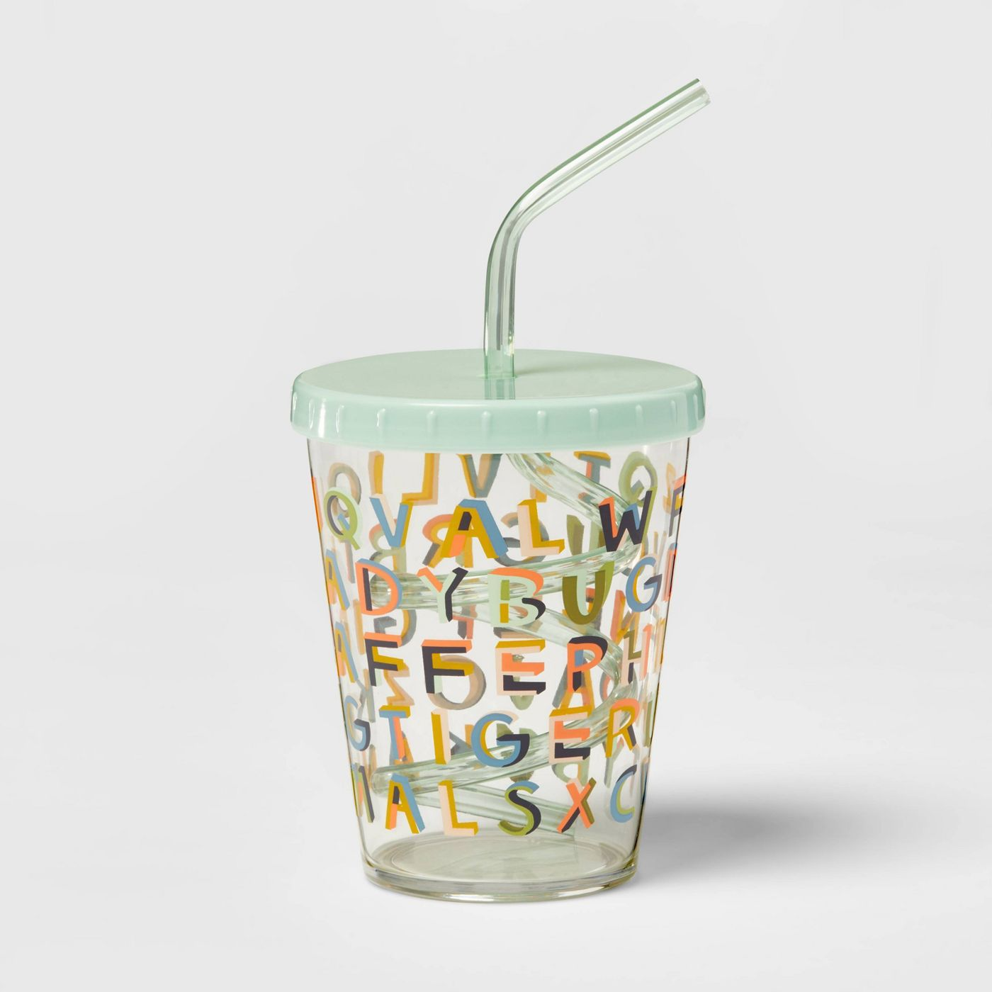 15oz Plastic Kids' Swirly Straw Cup - Pillowfort™ - image 1 of 4