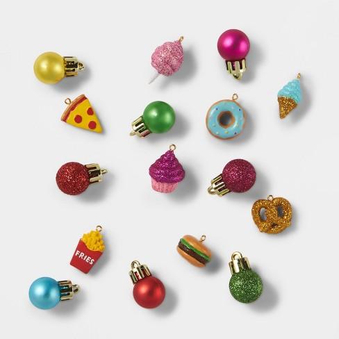 16pc Mini Junk Food Icon Christmas Ornament Set - Wondershop™ - image 1 of 3