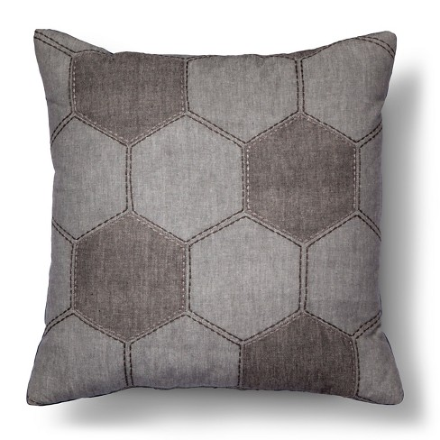 "Soccer Throw Pillow - 18""x18"" - Gray - Pillowfort™ - image 1 of 2"