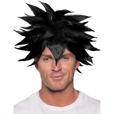 Underwraps Black Spiky Crunchyroll Anime Adult Costume Wig | One Size