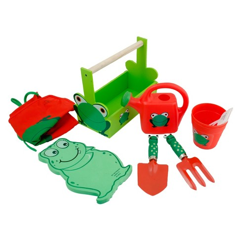 7pc Deluxe Kids Gardening Tool Set With Apron - Green/Red - Ray Padula - image 1 of 1