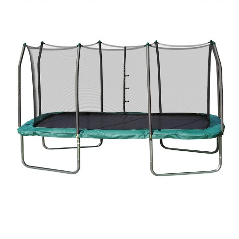 Skywalker Rectangle Trampoline with Enclosure - Green (14') - image 1 of 6