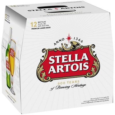 Stella Artois Belgian Beer - 12pk/11.2 fl oz Bottles