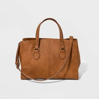 Structured Satchel Handbag - Universal Thread™ Cognac