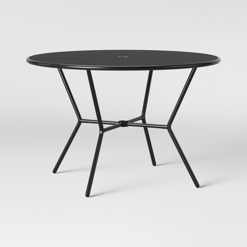 Admirable Bangor 4 Person Patio Dining Table Black Project 62 Gmtry Best Dining Table And Chair Ideas Images Gmtryco