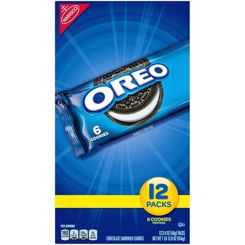 Oreo Chocolate Sandwich Cookies - Snack Packs - 2.4oz / 12ct - image 1 of 4