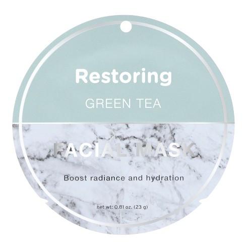 My Spa Life Restoring Green Tea Face Mask - 0.81oz - image 1 of 2