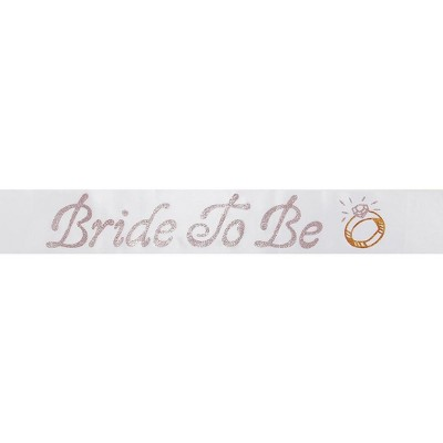 Elope Bride to Be Sash White One Size