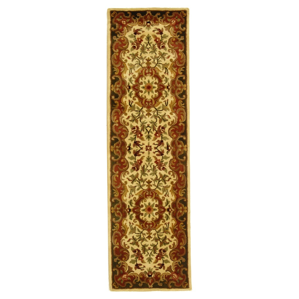 Ivory/Green Abstract Tufted Runner - (2'3x12') - Safavieh