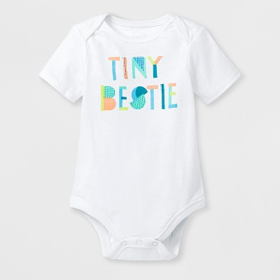 Baby 'Tiny Bestie' Graphic Bodysuit - Cat & Jack™ White 0-3M