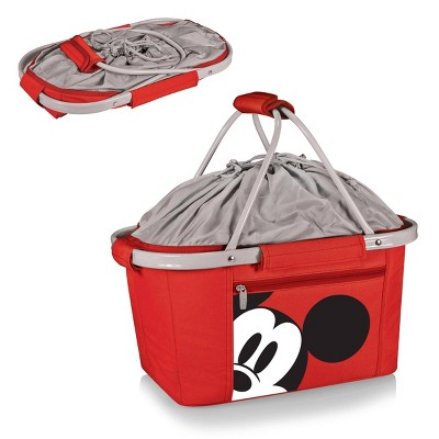 Picnic Time Disney Mickey Mouse Metro Basket  Collapsible Cooler Tote - Red