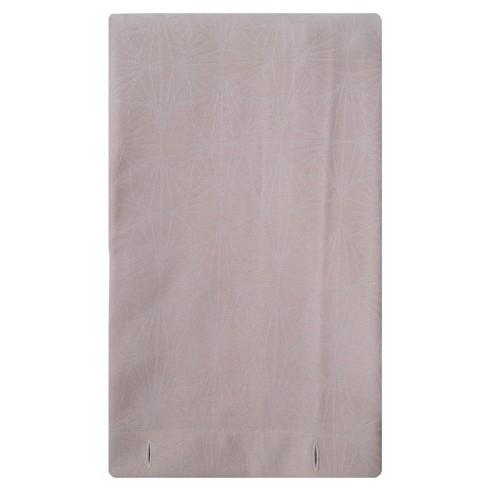 Woven Shower Curtain Blush Fan