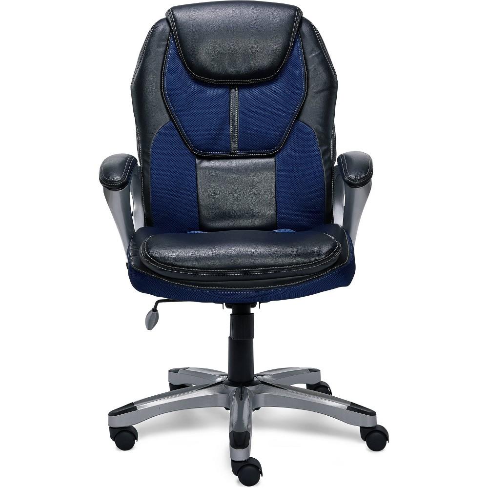 Works Executive Office Chair Streamline Blue - Serta