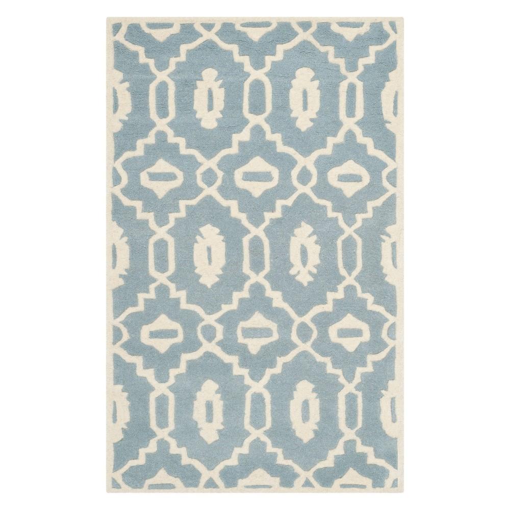3X5 Geometric Accent Rug Blue/Ivory - Safavieh Price