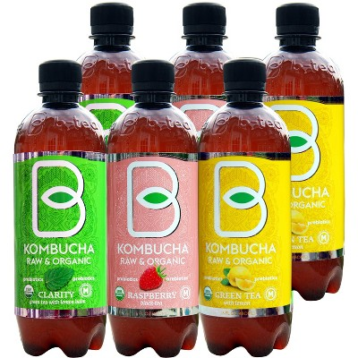 B-Tea Raw & Organic Variety Pack - 6pk/16 fl oz Bottles