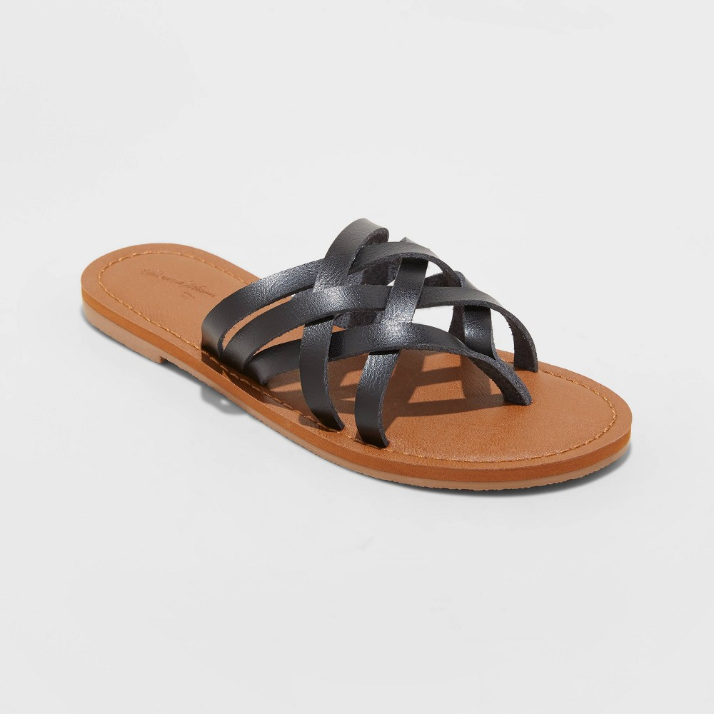 Women 39 S Josephine Multi Strap Sandals Universal Thread 8482 Black 9