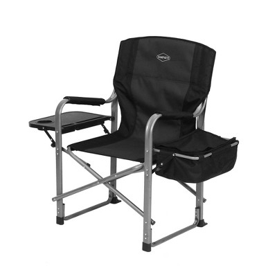 Kamp-Rite Outdoor Camp Folding Director's Chair with Table, Cooler, and Opener