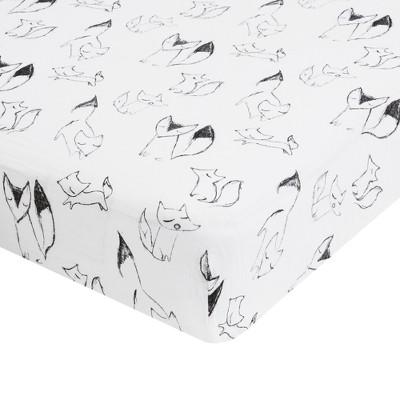 Aden® by Aden + Anais® Crib Sheet - Trotting Fox - Gray