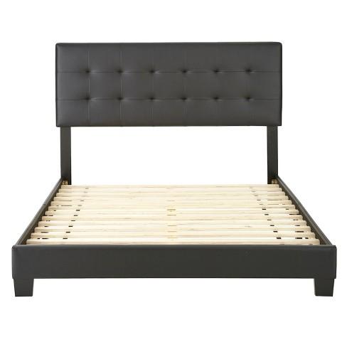 Macie Leather Low Profile Platform Bed Eco Dream