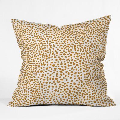 "18""x18"" Iveta Abolina La Jardin Noir VII Square Throw Pillow Bright Gold - Deny Designs"